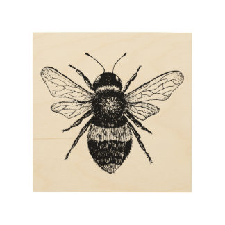 Vintage Bee Wood Art