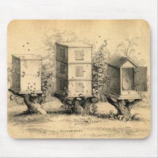 Vintage Beekeeping Beehives Beehive Mouse Pad
