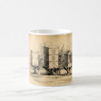 Vintage Beekeeping Beehives Beehive Coffee Mug