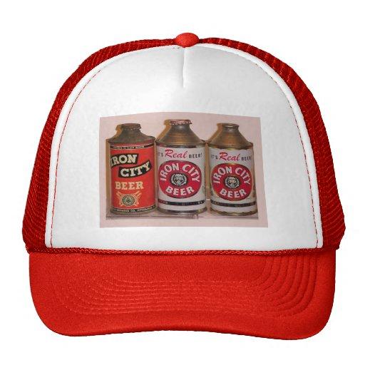 Vintage Beer advertisement, Iron City Beer Mesh Hats