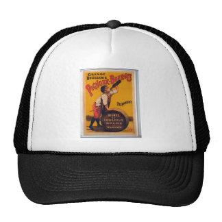 Vintage beer advertising poster Grande brasserie Hat