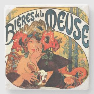 Vintage Beer Muse Stone Coaster