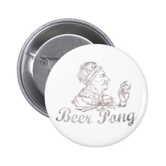 Vintage Beer Pong King 6 Cm Round Badge