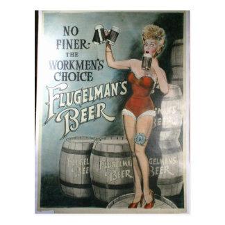 Vintage beer poster, No finer the workmen's choice Postcard