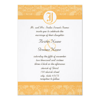 Vintage Beeswax Damask Your Photo Wedding Invites