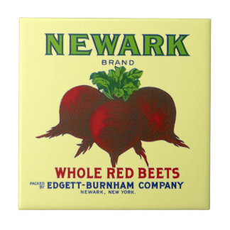 Vintage Beet Label Kitchen Tile Garden Veggie