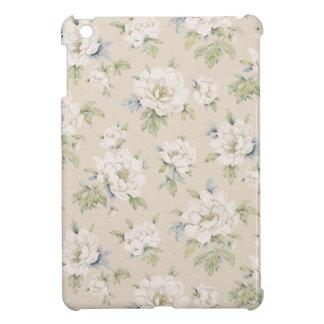 Vintage beige floral design case for the iPad mini