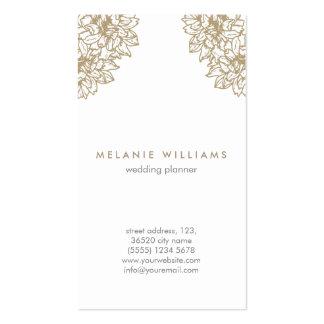 Vintage beige flowers elegant feminine chic design business card