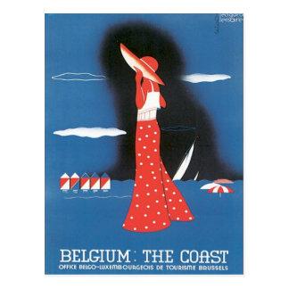 Vintage Belgium The Coast Postcard