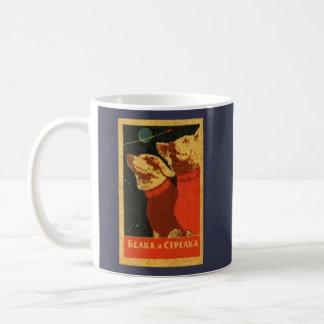 Vintage Belka & Strelka Soviet Space Dogs Coffee Mug