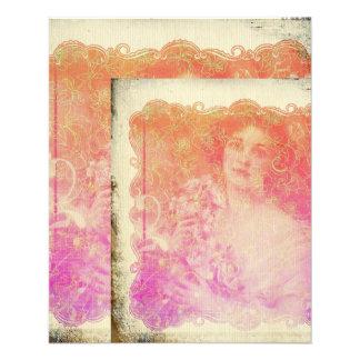Vintage,belle époque,beautiful lady,victorian,chic flyer
