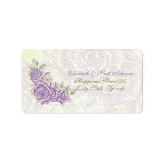 Vintage bellflower purple wedding Label Address Label