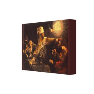 Vintage Belshazzar's Feast by Rembrandt van Rijn Canvas Print