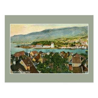 Vintage Bergen Bergenhus Norway Postcard