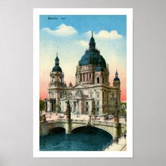 Vintage Berlin Cathedral (Dom) Poster