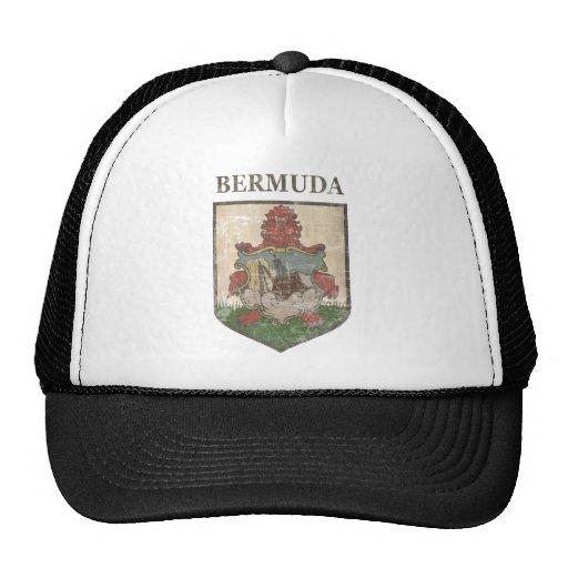 Vintage Bermuda Coat Of Arms Mesh Hats