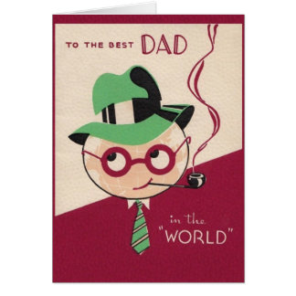 Vintage Best Dad Father's Day Card