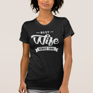 Vintage Best Wife Since 1991 T-Shirt