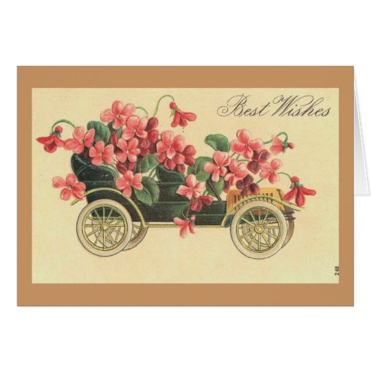 Vintage - Best Wishes Greeting Card