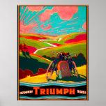 Vintage Bicycle Ad - Bike on Hillside Poster