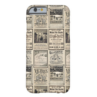 Vintage Bicycle Advertising Collage in Sepia Tones Barely There iPhone 6 Case
