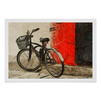 Vintage Bicycle Artwork Poster