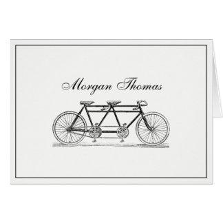 Vintage Bicycle Built For Two / Tandem Bike Card