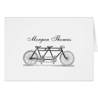 Vintage Bicycle Built For Two / Tandem Bike Card