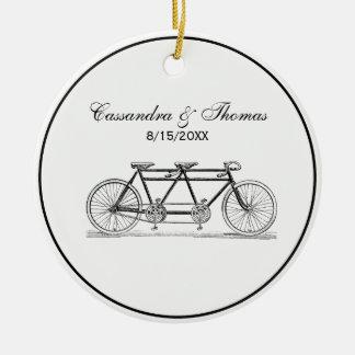 Vintage Bicycle Built For Two / Tandem Bike Ceramic Ornament