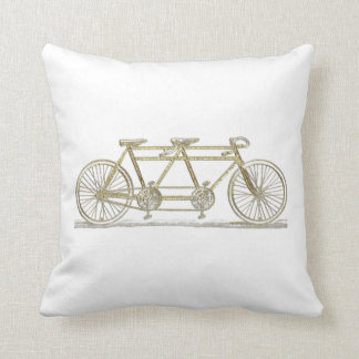 Vintage Bicycle Built For Two / Tandem Bike Gold Cushion