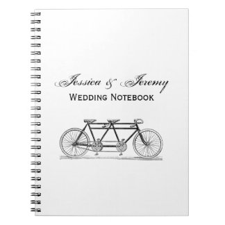 Vintage Bicycle Built For Two / Tandem Bike Notebook