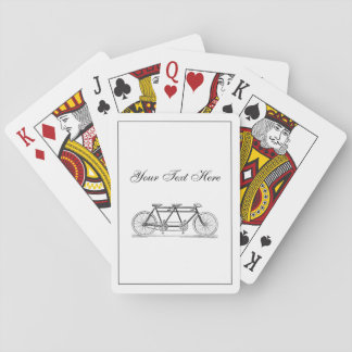 Vintage Bicycle Built For Two / Tandem Bike Playing Cards