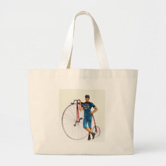 Vintage Bicycle Championship Large Tote Bag