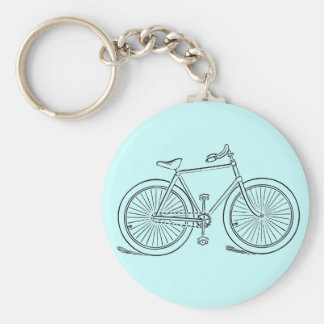 Vintage Bicycle Key Chain