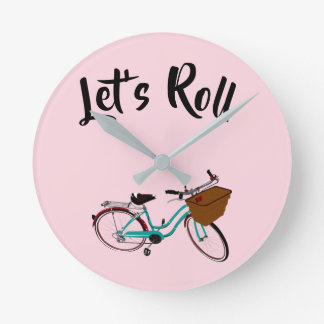Vintage Bicycle...let's roll. Round Clock