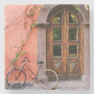 Vintage Bicycle on old street design Stone Coaster