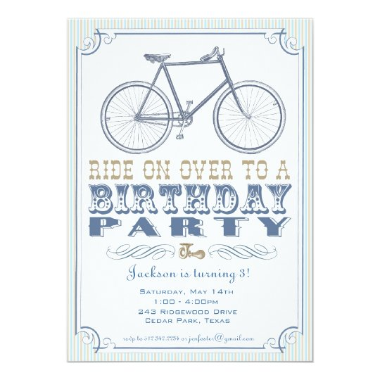 Vintage Bicycle Party Invitation
