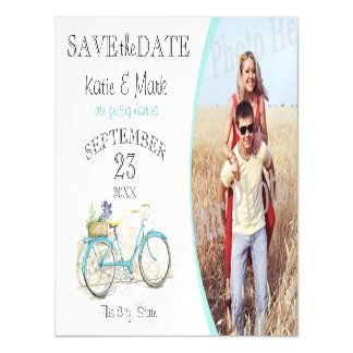 Vintage Bicycle Photo Save the Date Magnetic Card