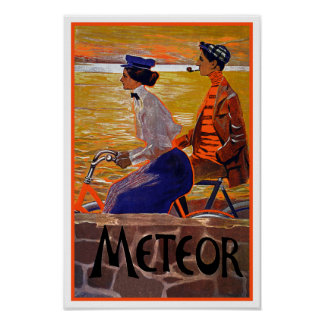 Vintage Bicycle Poster: Meteor Cycles Poster