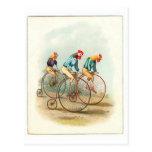 Vintage Bicycle Poster, Pennyfarthing Roosters