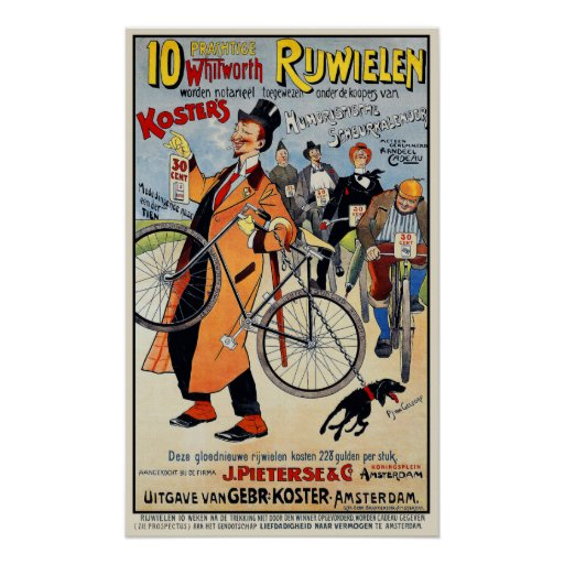 Vintage Bicycle Poster:  Whitworth Rijwielen