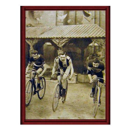 Vintage bicycle race postcards
