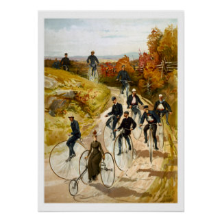 Vintage Bicycle Ride in the Country Posters