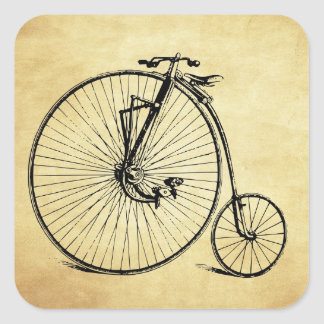 Vintage Bicycle Square Sticker