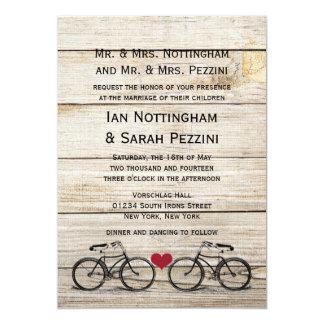 Vintage Bicycle Wedding Invitations