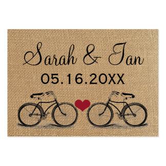 Vintage Bicycle Wedding Place Cards Business Card Template