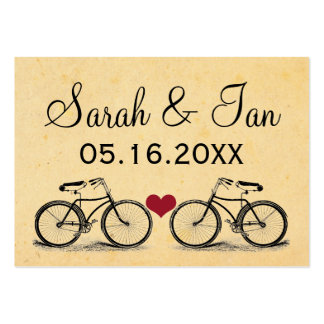 Vintage Bicycle Wedding Place Cards Business Cards