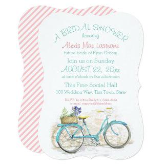 Vintage Bicycle with Basket Bridal Shower Card