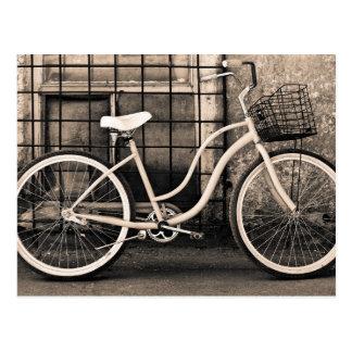 Vintage Bicycle With Basket Postcard