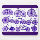 Vintage Bicycles Mouse Pad